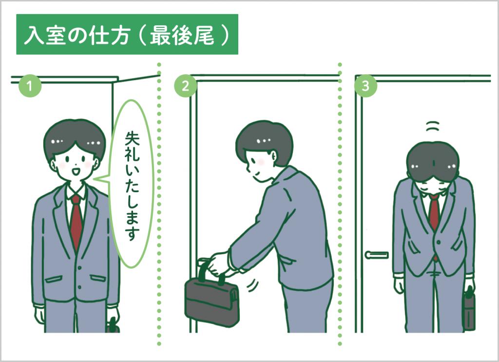 入室の仕方(最後尾)